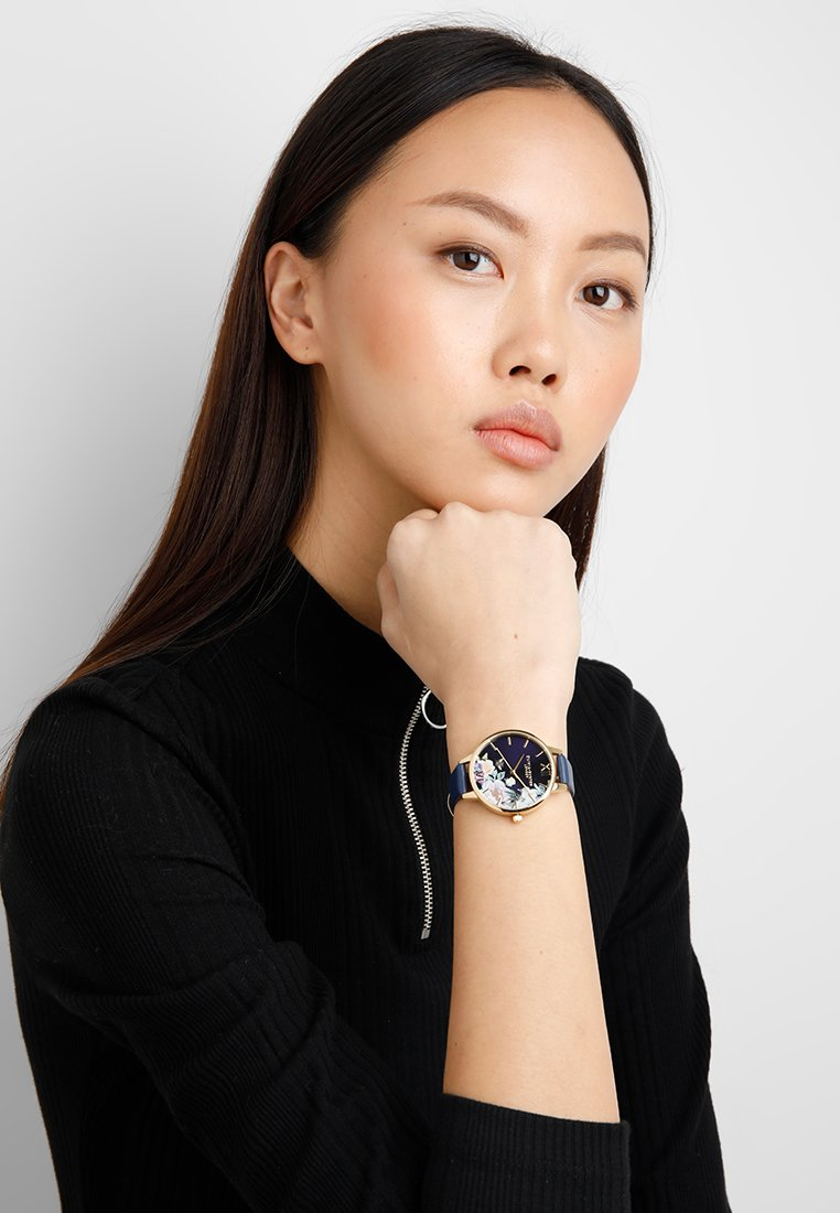 Olivia Burton - ENCHANTED GARDEN - Reloj - navy