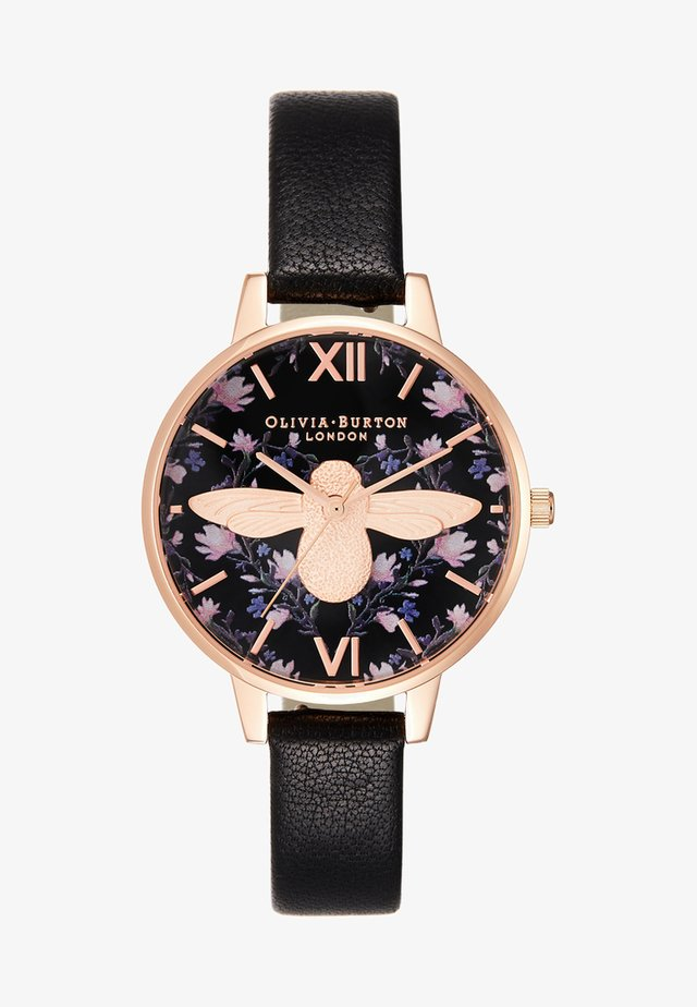 MEANT TO BEE - Zegarek - black/rose gold-coloured