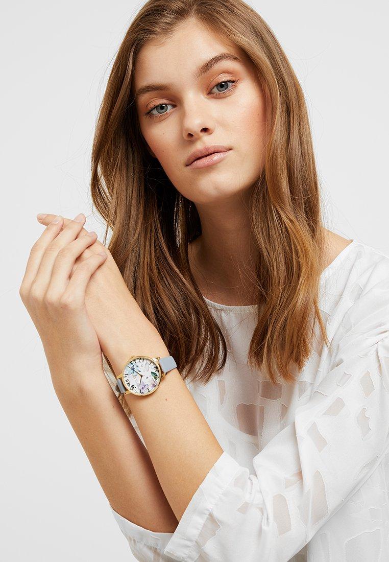 Olivia Burton - BEJEWELLED FLORALS - Reloj - chalk blue/gold-coloured