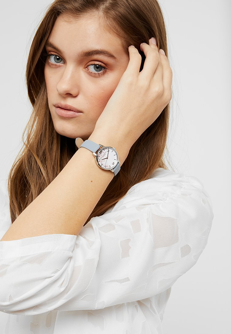 Olivia Burton - PRETTY BLOSSOM - Watch - chalk blue/silver-coloured