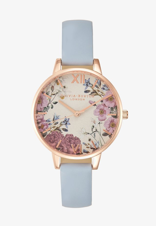 BRITISH BLOOMS - Uhr - blau
