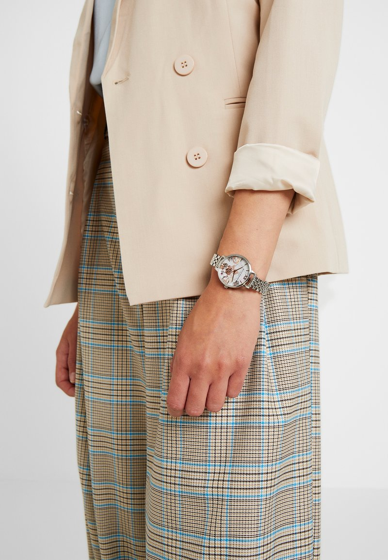 Olivia Burton - MARBLE FLORALS - Watch - silver-coloured