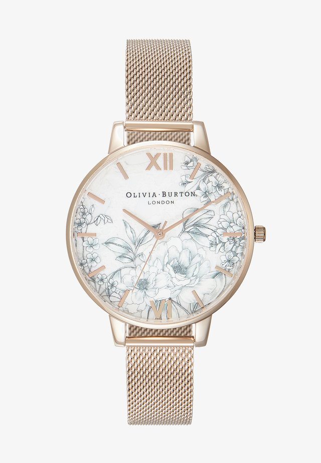 TERRAZZO FLORAL - Watch - roségold-coloured