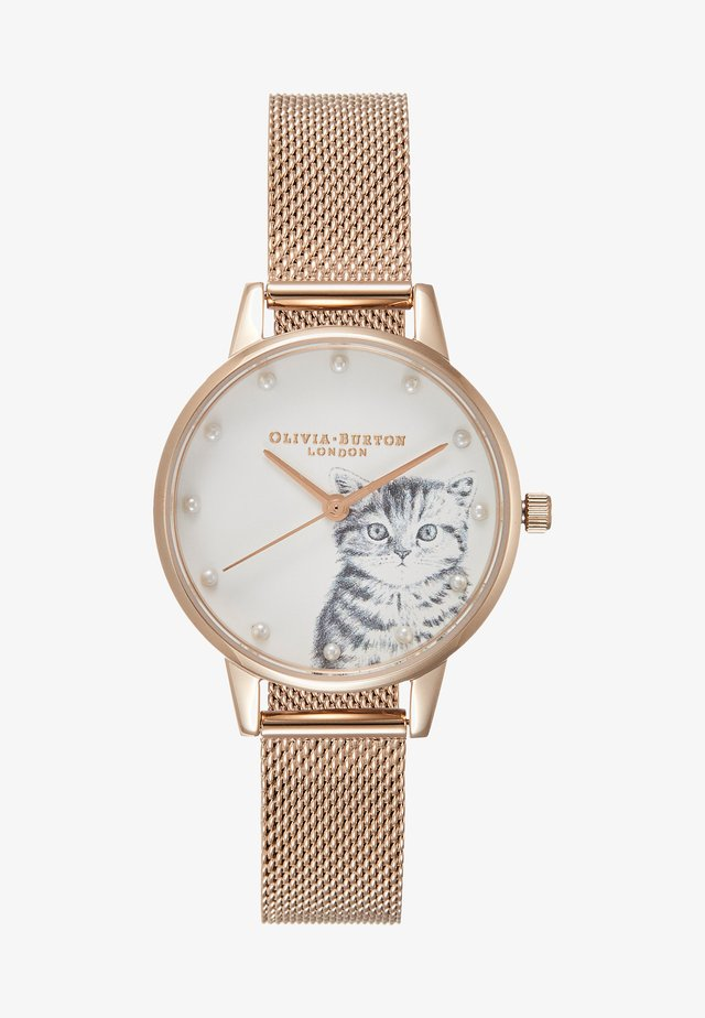 ILLUSTRATED ANIMALS - Klocka - rose gold-coloured