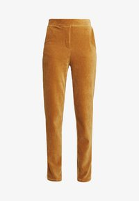 Object Tall - OBJCORDA LISA SLIM PANT - Kalhoty - brown sugar - 4