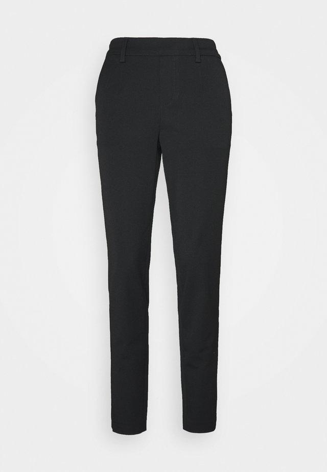 OBJLISA SLIM PANT - Trousers - black