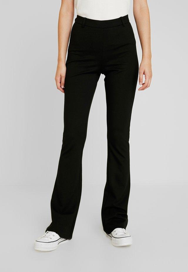 OBJNICKY LONG PANT - Trousers - black