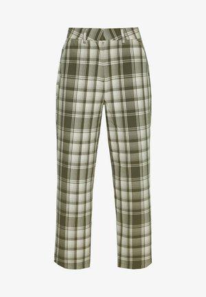 OBJUMA PANT - Pantalones - burnt olive/gardenia
