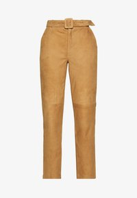 Object Tall - OBJDALINA PANT - Pantalón de cuero - incense - 3