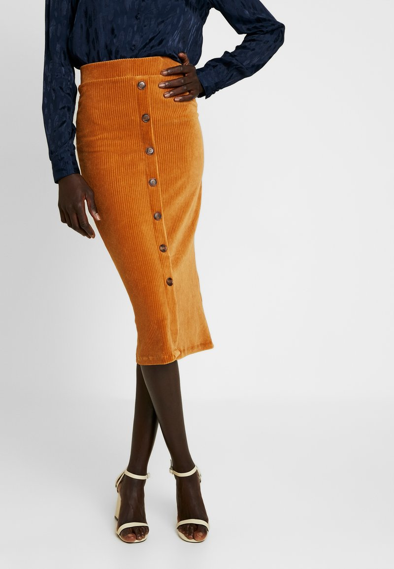 Object Tall - OBJCORDA SKIRT - Pencil skirt - brown sugar