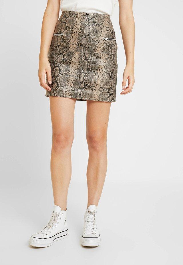 OBJTYRRELL SHORT SKIRT - Mini skirt - humus