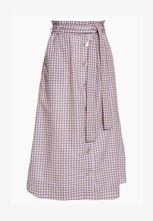 OBJLYNNE SKIRT - Spódnica trapezowa - dazzling blue/brown /gardenia