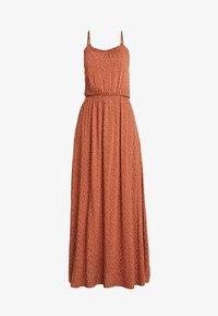Object Tall - OBJCLARISSA SINGLET DRESS - Maxi šaty - brown patina/white - 5