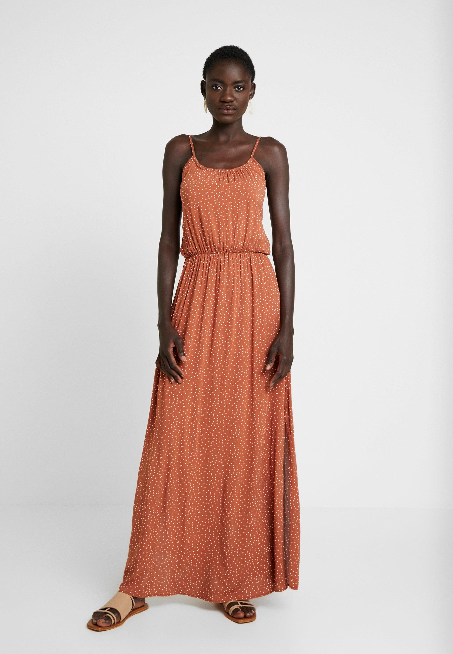Patina Singlet DressRobe Object Brown white Tall Objclarissa Longue xoQreCBWEd