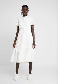 Object Tall - OBJFOILA DRESS - Day dress - gardenia - 0