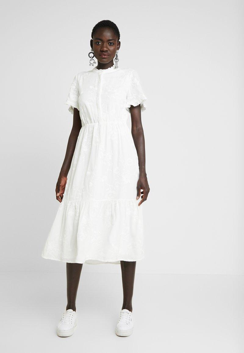 Object Tall - OBJFOILA DRESS - Day dress - gardenia