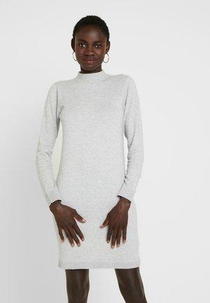 OBJTHESS DRESS - Gebreide jurk - light grey melange