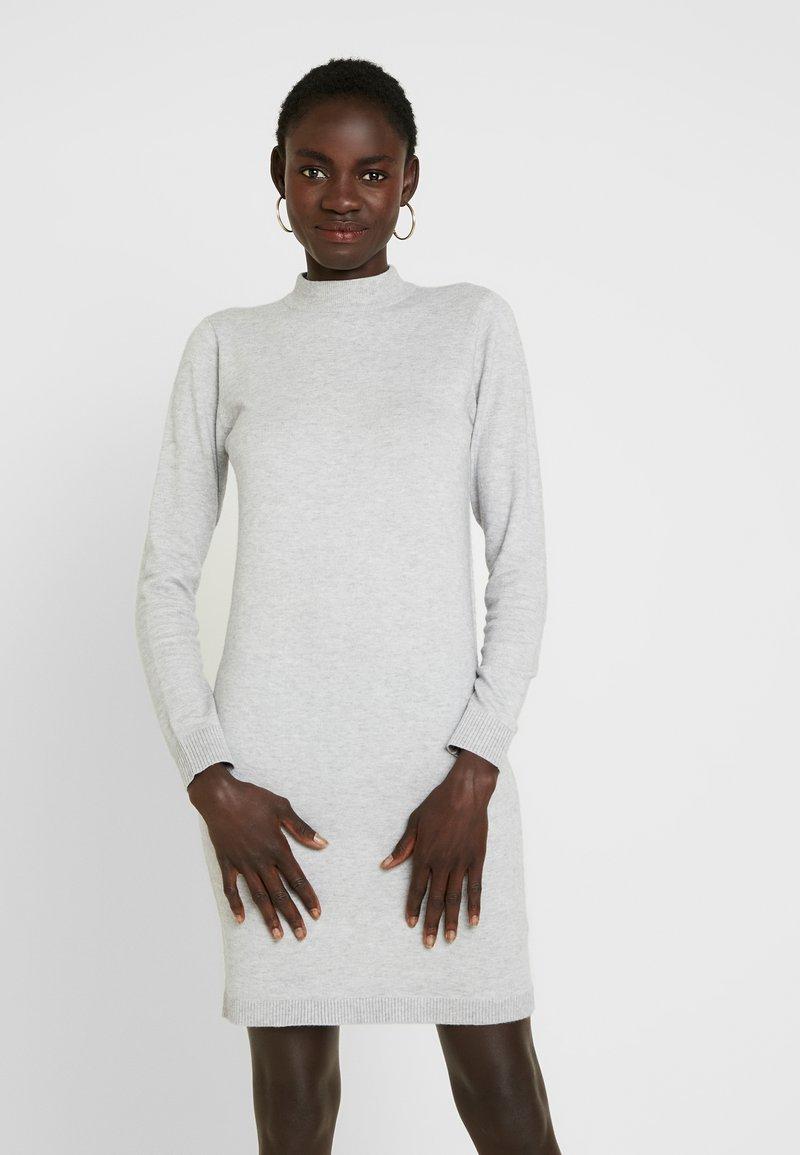 Object Tall - OBJTHESS DRESS - Jumper dress - light grey melange