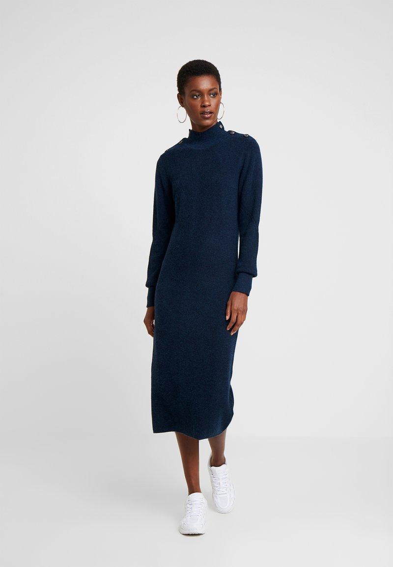 Object Tall - OBJJANEY DRESS - Gebreide jurk - sky captain