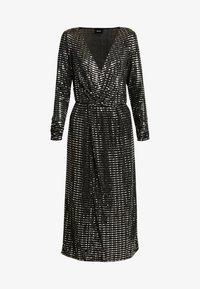 Object Tall - OBJSOLA DRESS - Jerseykleid - black/silver - 5