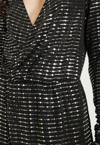 Object Tall - OBJSOLA DRESS - Jerseykleid - black/silver - 6