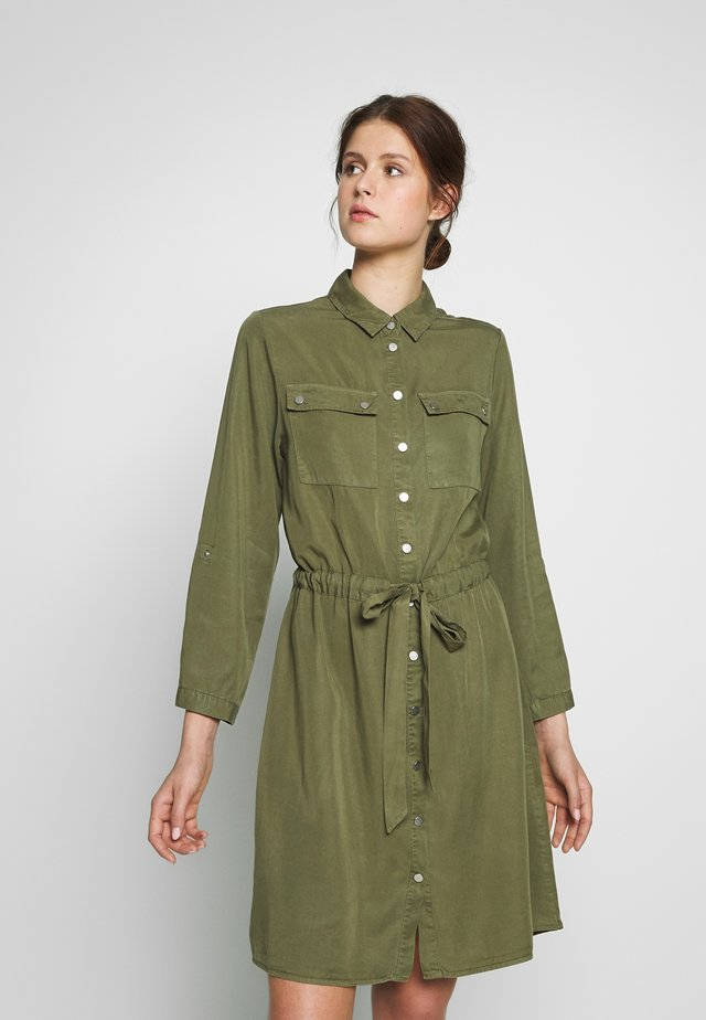 OBJJANA DRESS - Shirt dress - burnt olive