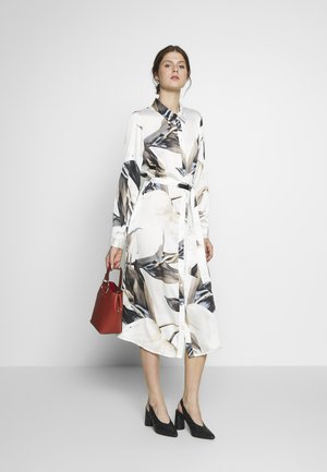 OBJPANIA AMELIA SHIRT DRESS - Košilové šaty - off-white