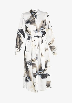 OBJPANIA AMELIA SHIRT DRESS - Paitamekko - off-white