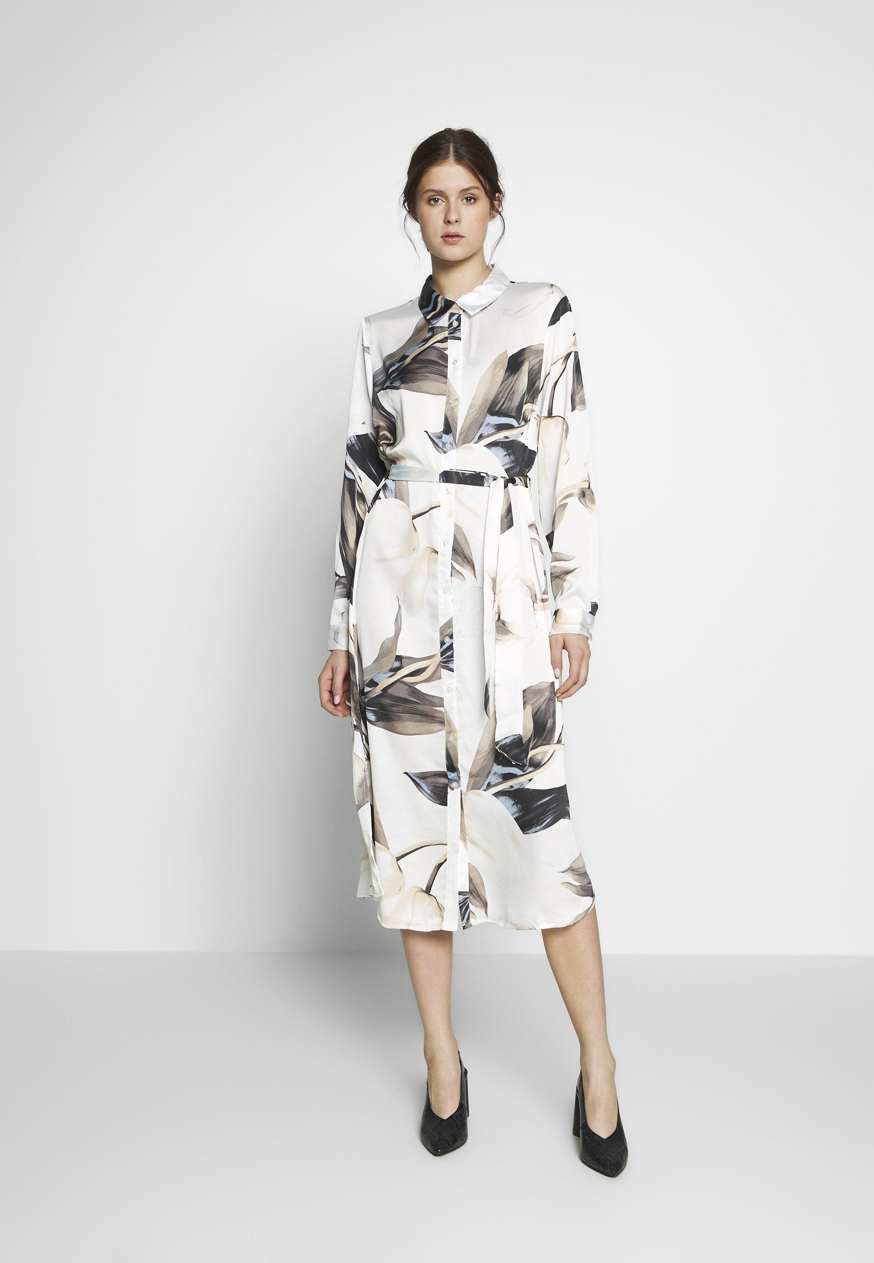 Object Tall OBJPANIA AMELIA SHIRT DRESS - Sukienka koszulowa - off-white