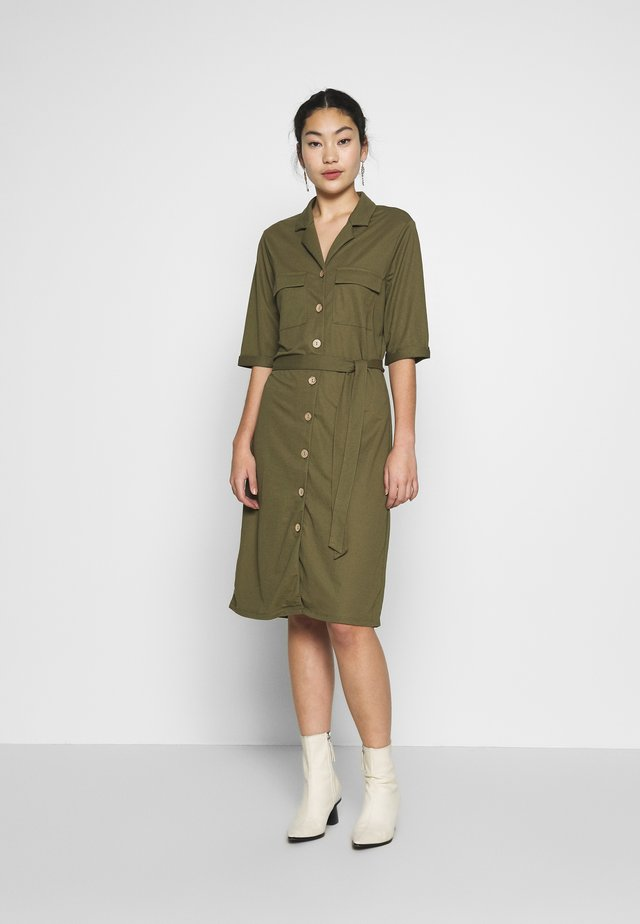 OBJTHELMA  DRESS TALL - Korte jurk - burnt olive