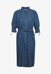 Object Tall - OBJANNELI DRESS - Dongerikjole - medium blue denim - 4