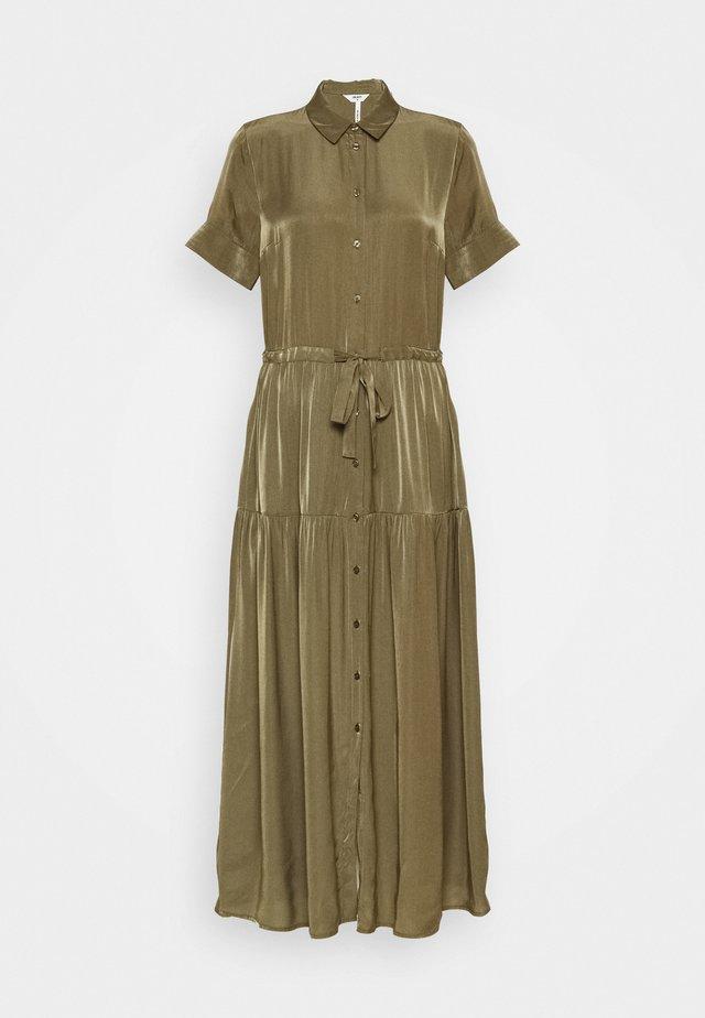 OBJNIBIA SHIRT DRESS  - Blousejurk - burnt olive