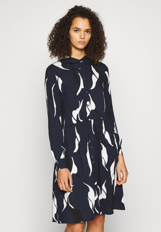 OBJALORA DRESS - Kjole - sky captain/abstract leaves