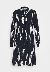 Object Tall - OBJALORA DRESS - Denní šaty - sky captain/abstract leaves - 4