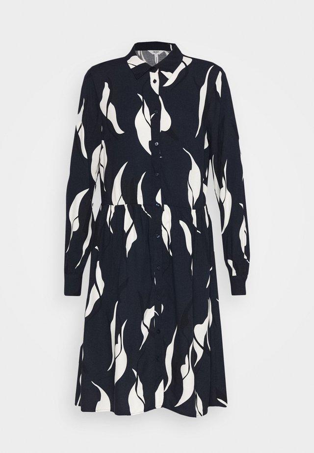 OBJALORA DRESS - Korte jurk - sky captain/abstract leaves