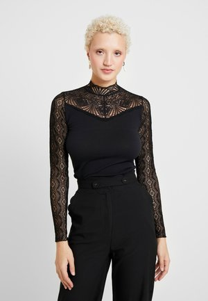 OBJMELLANY TOP TALL - Long sleeved top - black