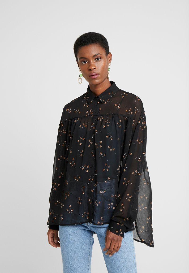 Object Tall - OBJAVINAJA - Camicia - black