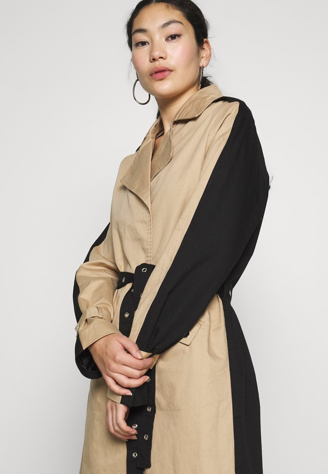 OBJKUNA JACKET - Trench - incense/black