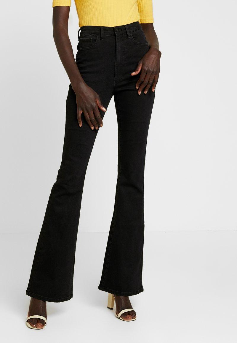 Object Tall - OBJDIJU - Flared Jeans - black
