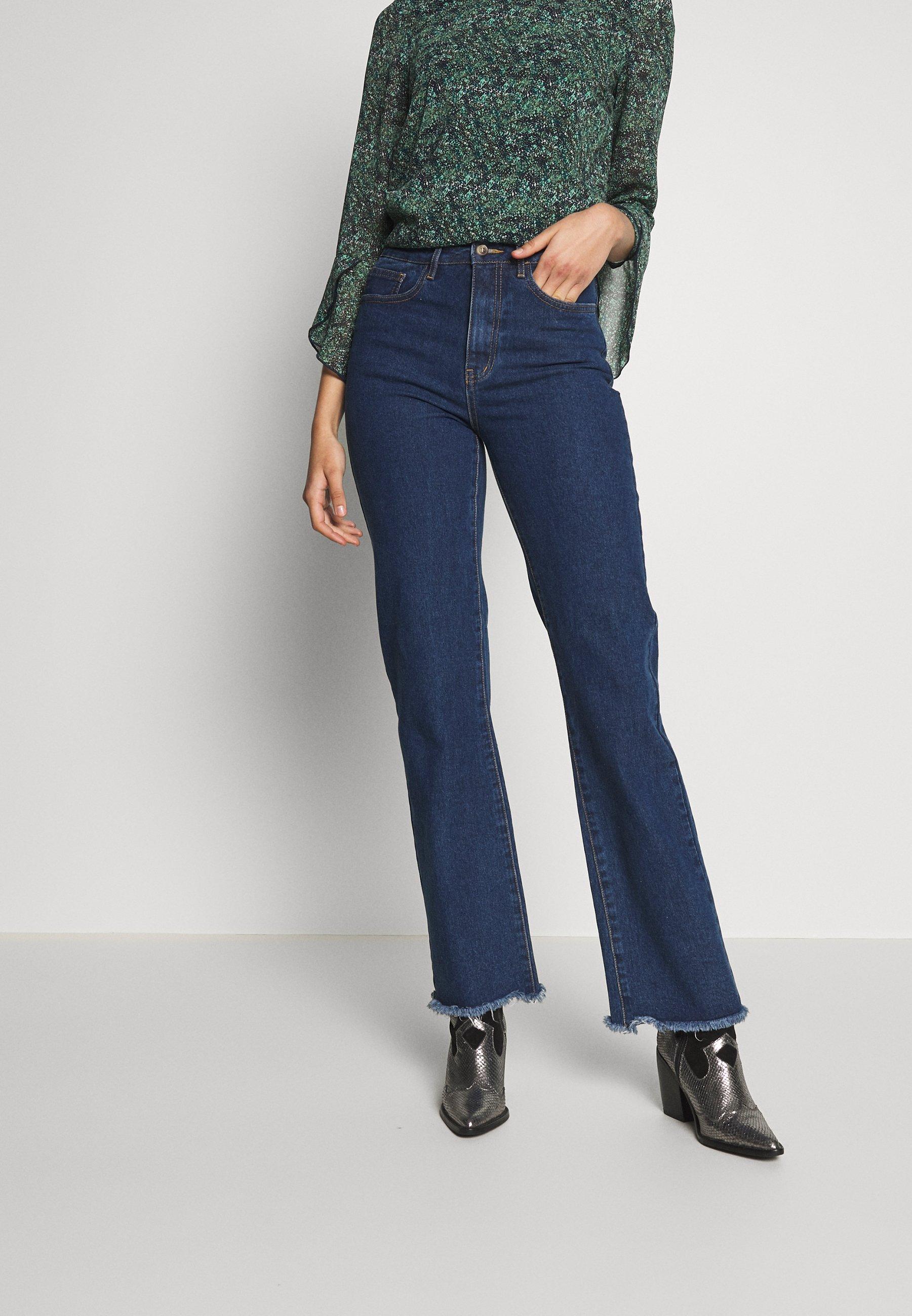 Object Tall OBJSINYA  - Jeansy Straight Leg - medium blue denim
