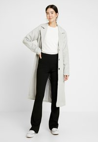 Object Tall - OBJLENA COAT - Płaszcz wełniany /Płaszcz klasyczny - light grey melange - 1