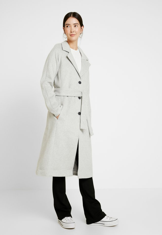 OBJLENA COAT - Classic coat - light grey melange