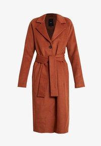 Object Tall - OBJLENA COAT - Zimní kabát - brown patina - 4