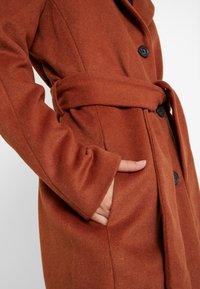 Object Tall - OBJLENA COAT - Zimní kabát - brown patina - 5