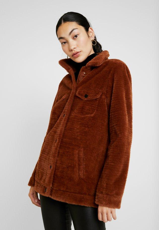 OBJBILLIE JACKET - Short coat - brown patina