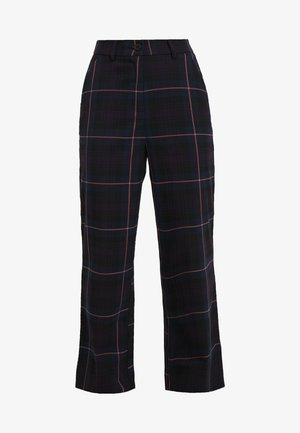 OBJLOLLY PANT - Pantalon classique - nightshade/tigerlilly