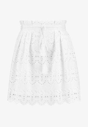 OBJANA SHORT SKIRT - Mini skirt - gardenia