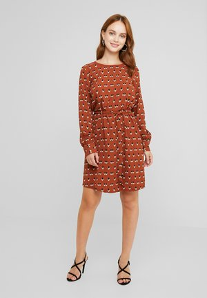 OBJRORY SHORT DRESS - Korte jurk - brown patina