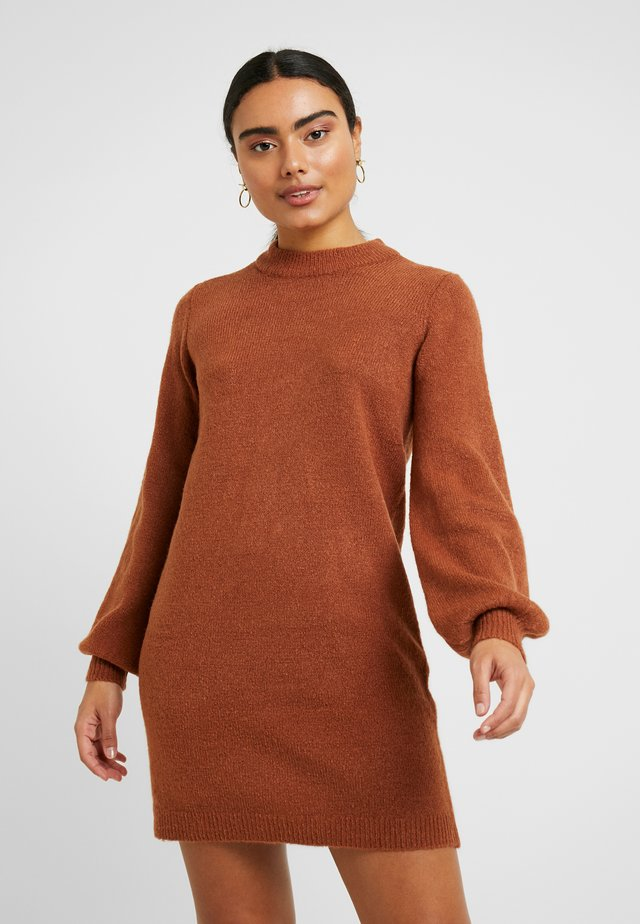 OBJEVE NONSIA DRESS  - Jumper dress - brown patina