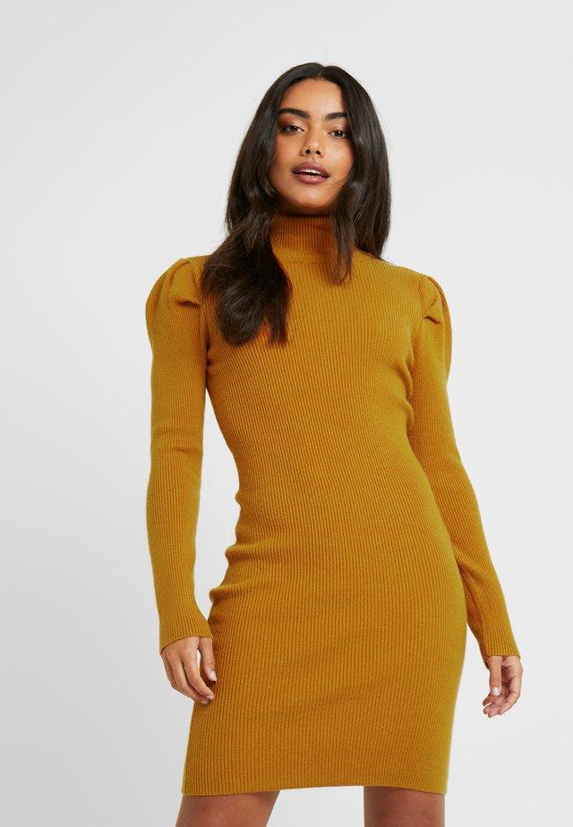 OBJTHESSA DRESS  - Shift dress - buckthorn brown